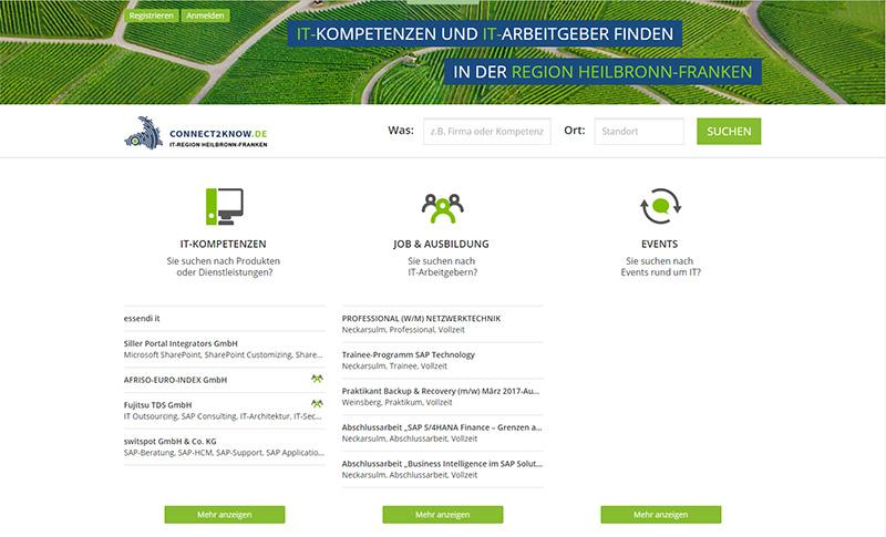 connect2know - die Plattform für Kompetenzen und Jobs in Heilbronn-Franken
