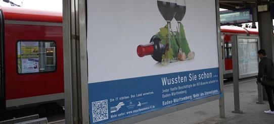 Plakate für den IT-Standort Baden-Württemberg