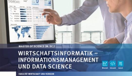 Neuer Masterstudiengang Wirtschaftsinformatik – Informationsmanagement und Data Science (M.Sc.)
